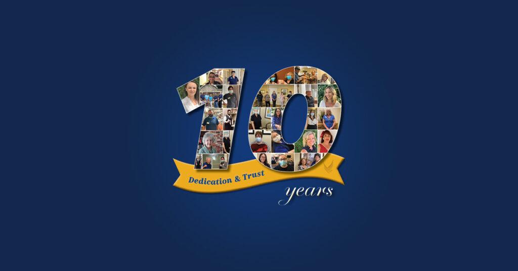 Pegasus Senior Living   10 Years of Dedication & Trust