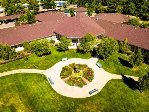 The Courtyards at Mountain View | Outdoor Aerial View