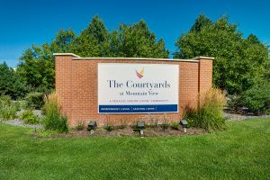 The Courtyards at Mountain View | Outdoor Sign