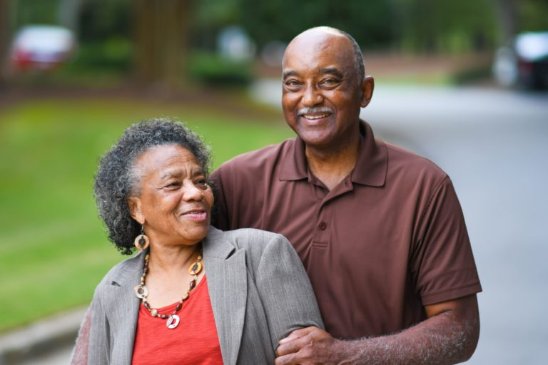The Courtyards at Mountain View | Happy senior couple