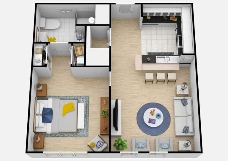 The Courtyards at Mountain View | One Bedroom Assisted Living