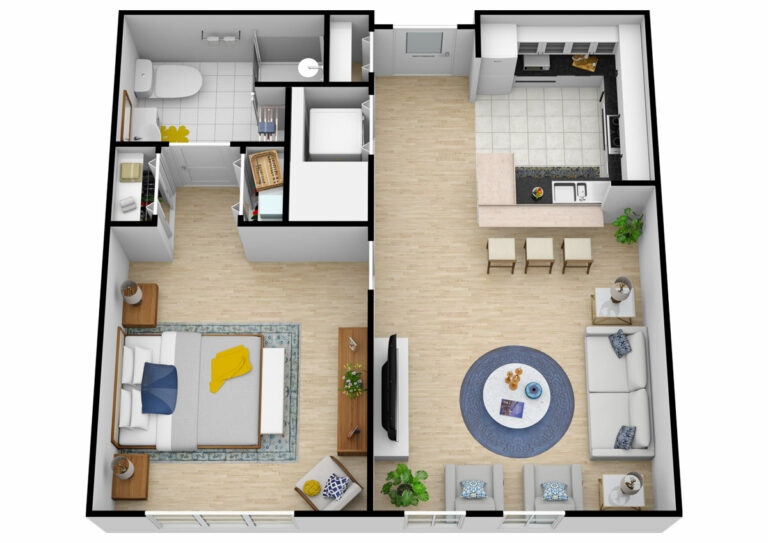 The Courtyards at Mountain View | One Bedroom Independent Living