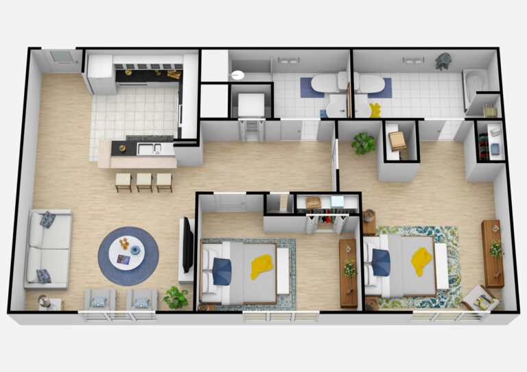 The Courtyards at Mountain View | Two Bedroom/One Bedroom With Den Two Bathroom Assisted Living