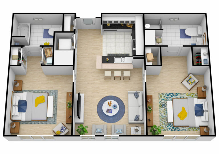 The Courtyards at Mountain View | Two Bedroom Two Bathroom Assisted Living