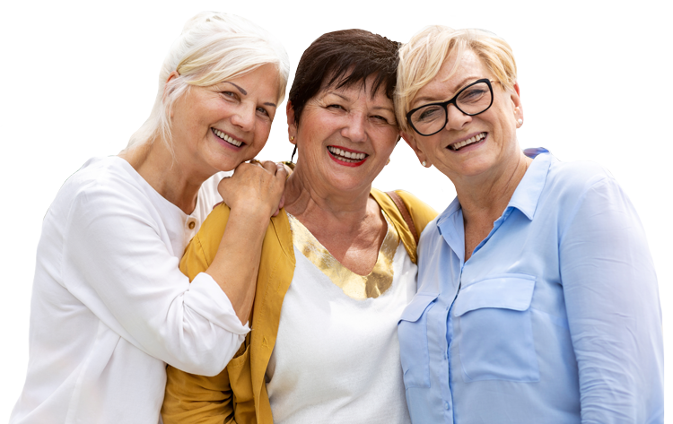 The Courtyards at Mountain View | Group of senior women smiling
