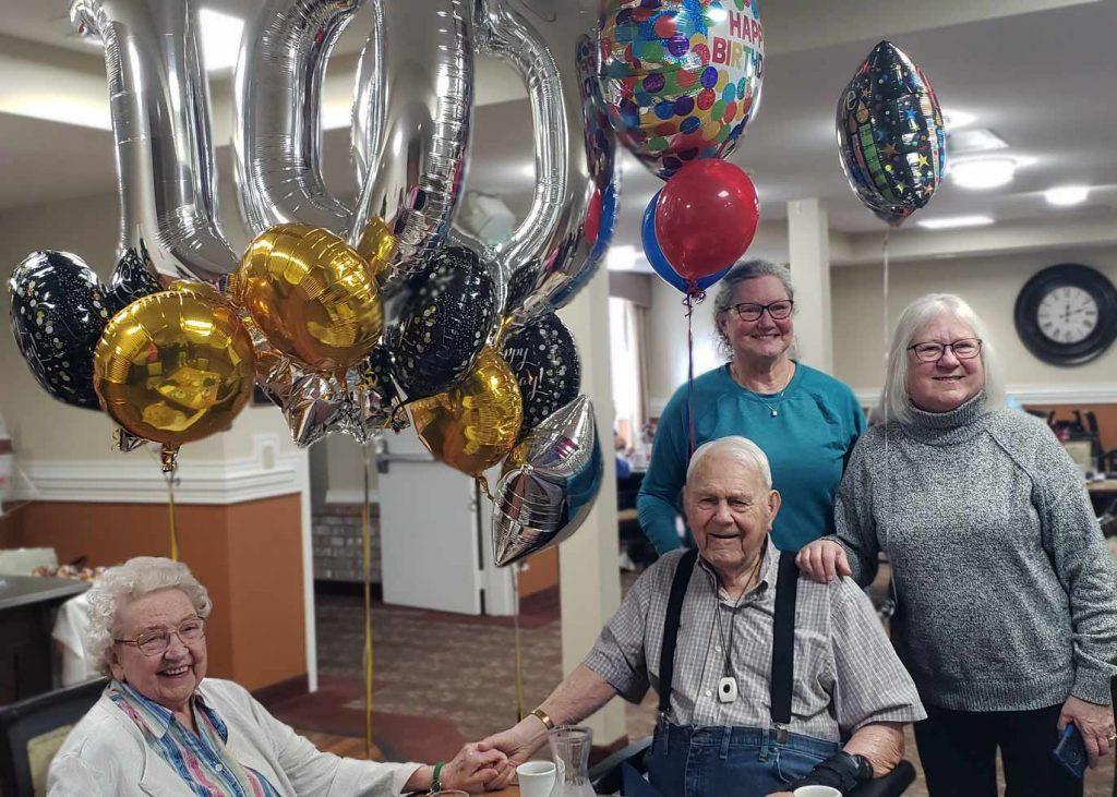 The Gardens at Marysville | Residents celebrating 100th birthday