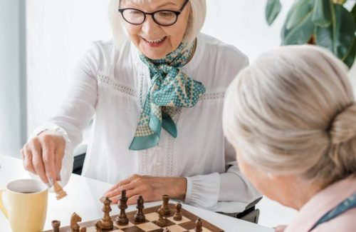 The Havens at Antelope Valley   Senior women playing chess