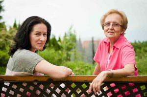 The Landing at Queensbury | Senior with caregiver