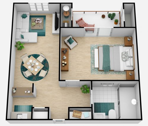 The Oaks at Inglewood   One Bedroom