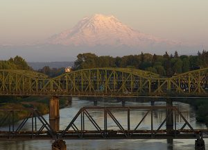 The Rivers at Puyallup | Local bridge with mountain