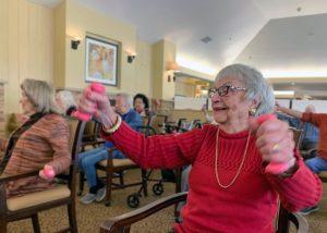 The Village at Rancho Solano | Elders exercising