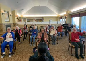 The Village at Rancho Solano | Seniors exercising
