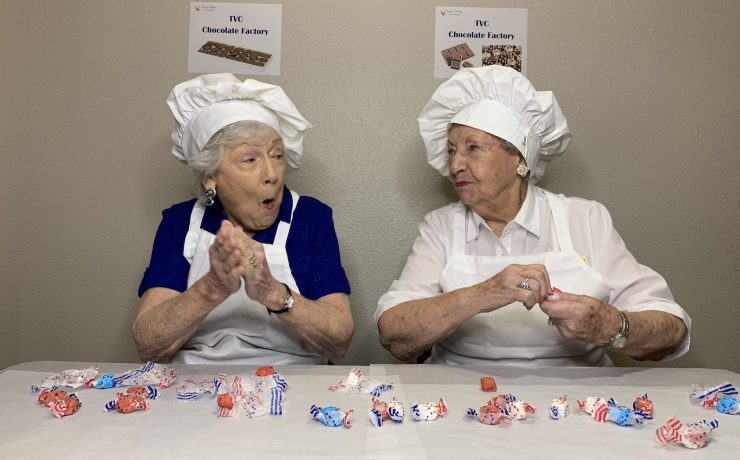 Town Village Crossing   Residents re-enacting a scene from I Love Lucy