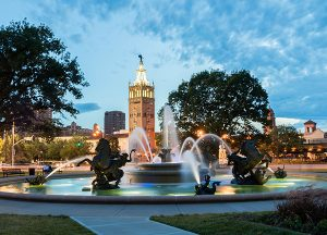 Town Village of Leawood | Local fountain