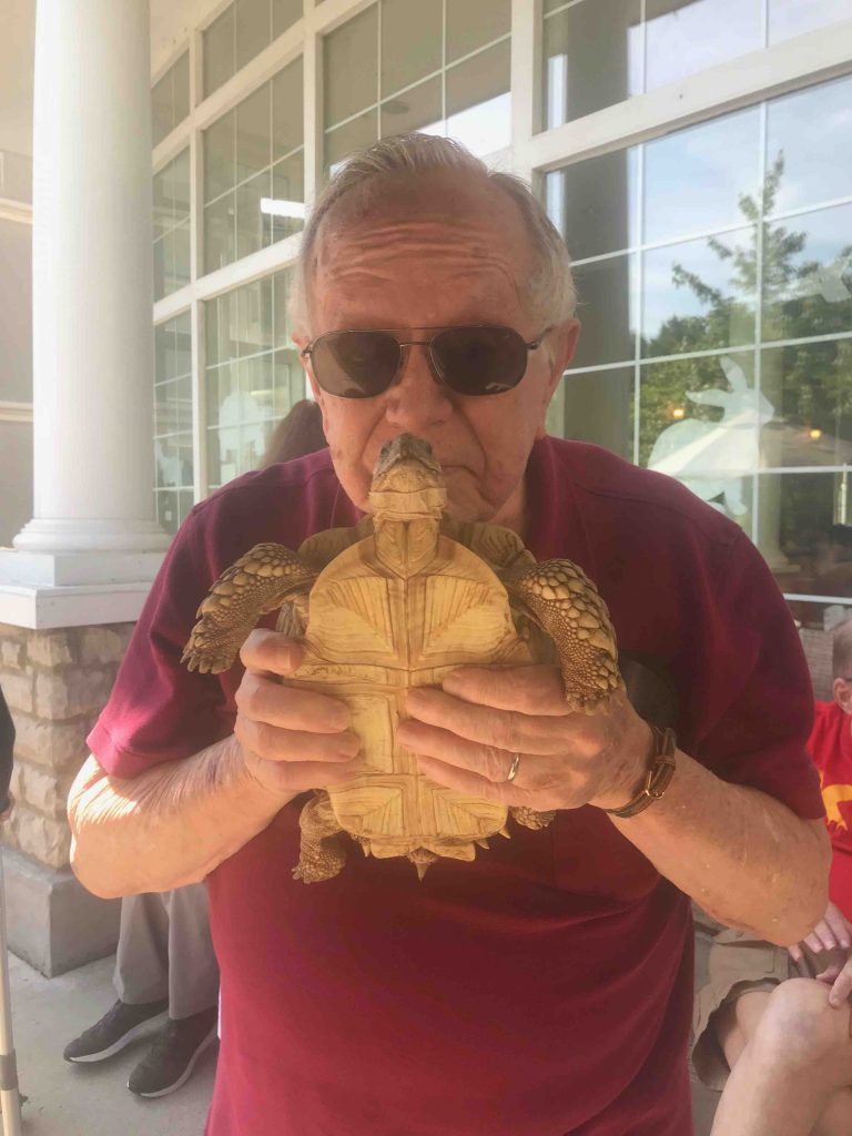 Town Village of Leawood | Residents with turtle