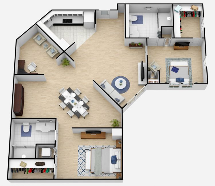 Town Village of Leawood | The Brentwood Two Bedroom