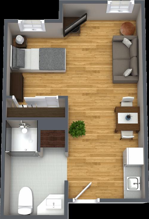 Tucson Place at Ventana Canyon | Apartment floorplan