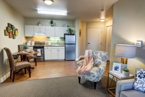 Whispering Winds of Apple Valley | Kitchen with Dining and Living Space
