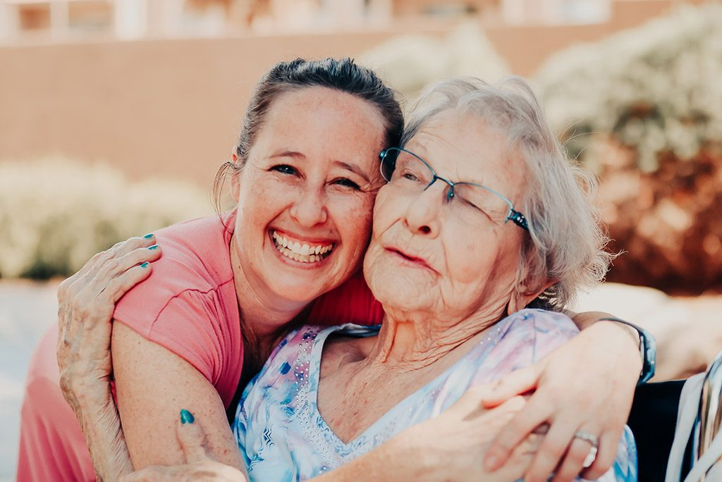 Pegasus Senior Living Memory Care Resident and Associate in Mesa, AZ