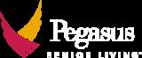 Pegasus Senior Living | White Logo