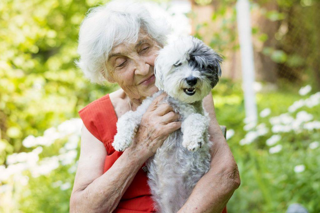 Pegasus Senior Living | Happy senior woman with small dog