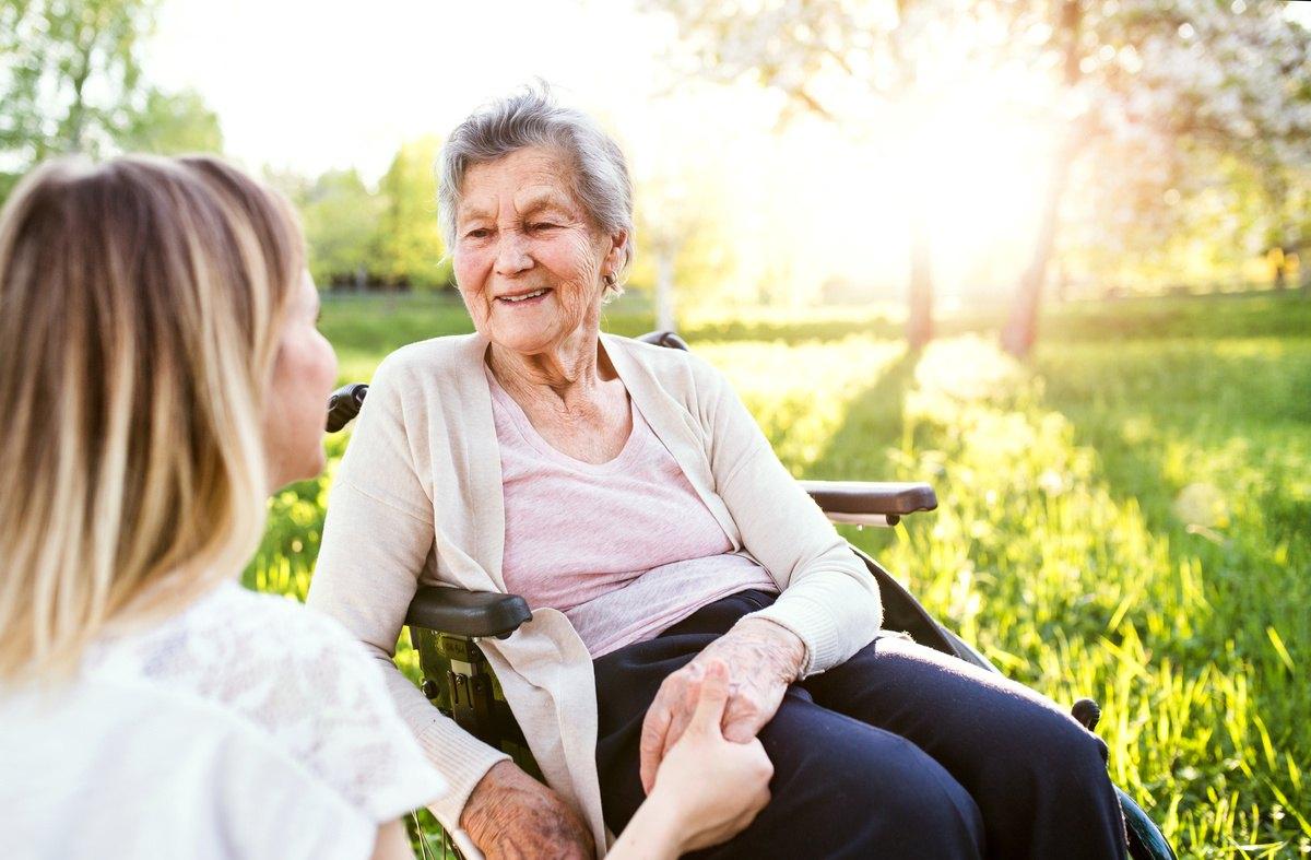 Pegasus Senior Living | Senior woman with caregiver