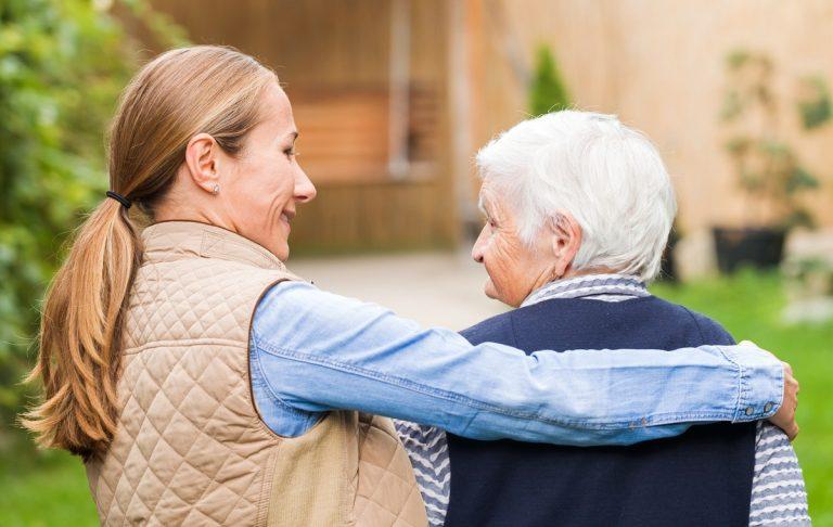 Pegasus Senior Living | Senior with caregiver