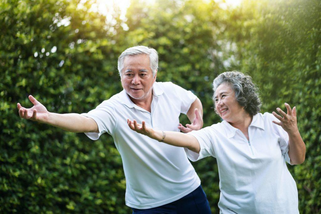 Pegasus Senior Living   Seniors participating in wellness activity