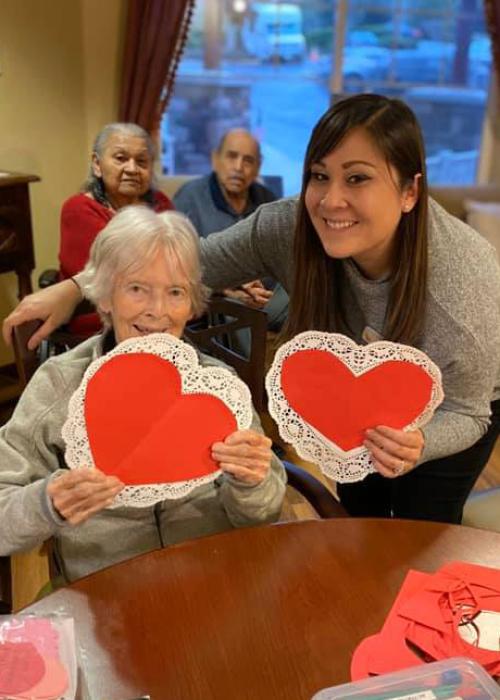 Pegasus Senior Living | Valentines for Veterans activity