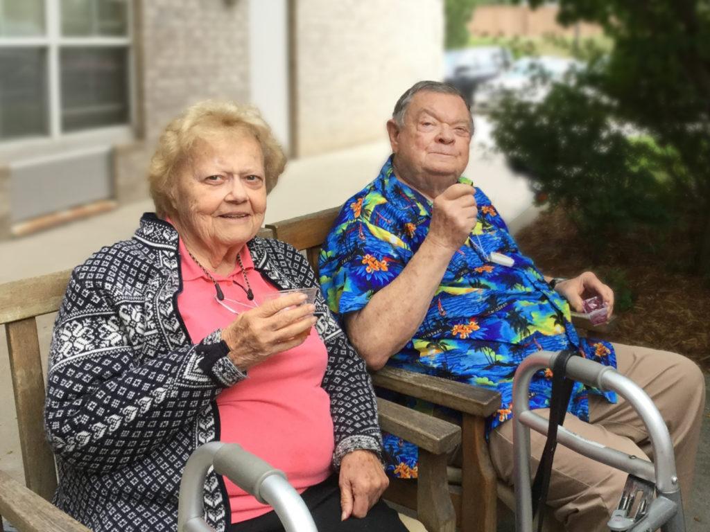 Pegasus Senior Living | Residents relaxing outdoors