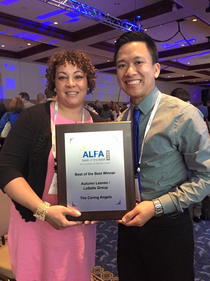 Pegasus Senior Living   Edward Esguerra receiving ALFA Award