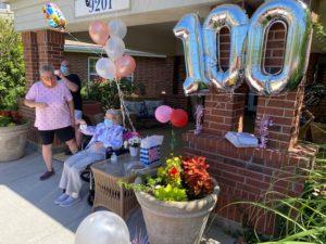 Elouise Celebrating 100th Birthday at Glenwood Village of Overland Park
