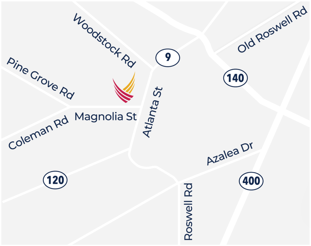 Pegasus Senior Living | Map of Historic Roswell Place