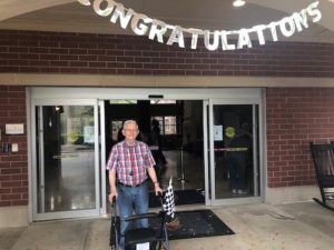 Senior Robert White at Dunwoody Place Celebrating 10 Millionth Step