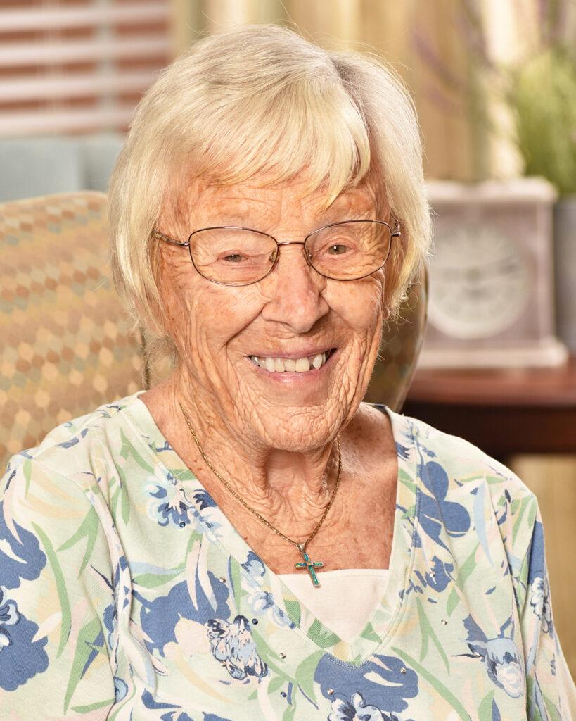 Pegasus Senior Living   Resident smiling