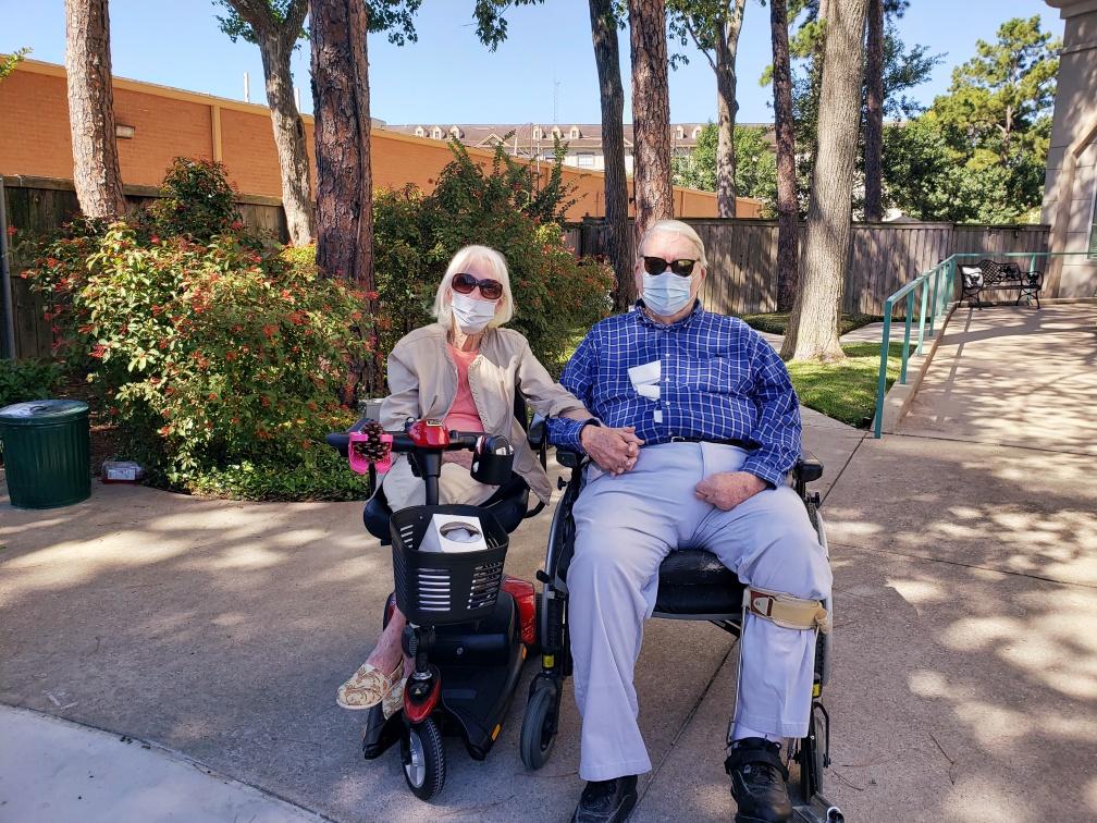 Pegasus Senior Living   Residents sitting outside