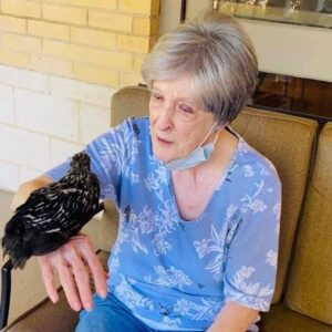 Pegasus Senior Living | Resident with duck