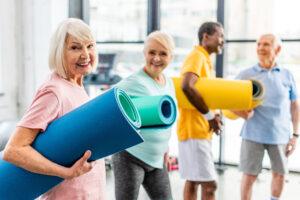 Pegasus Senior Living | Active seniors at gym