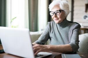 Pegasus Senior Living   Woman using computer
