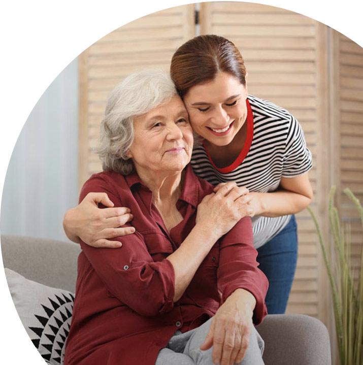 Lakeview of Kirkland | Senior with caregiver