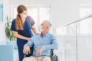 Pegasus Senior Living | Senior with medical professional