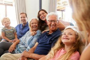 Pegasus Senior Living | Happy senior man surrounded by family