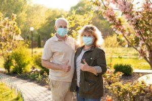 Pegasus Senior Living | Seniors wearing masks during Spring
