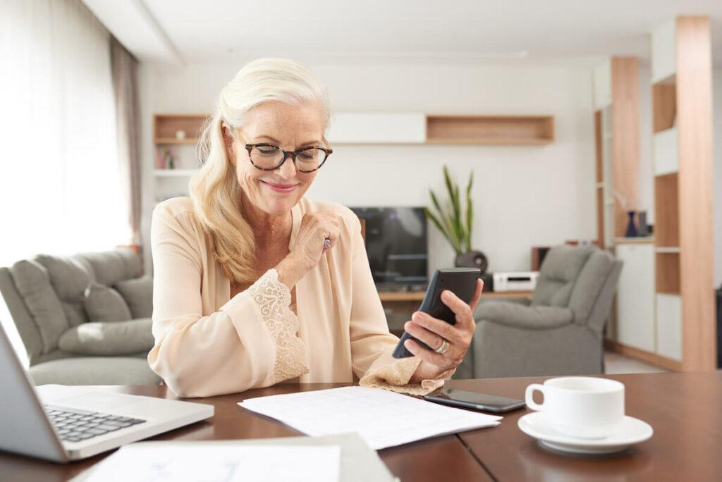 Creston Village | Women Calculating Her Finances