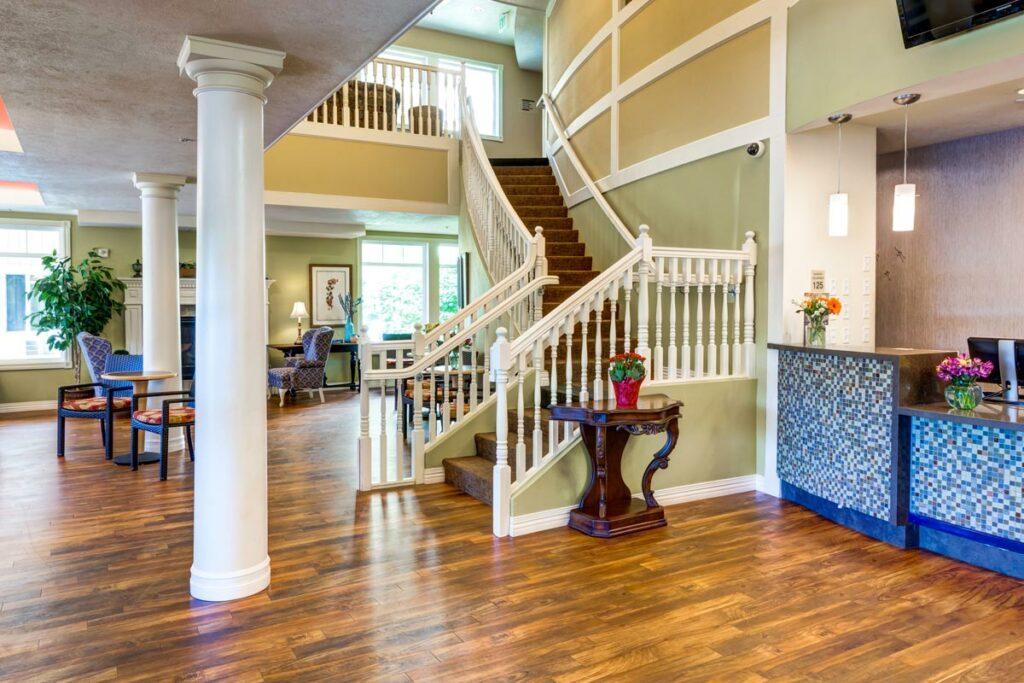 Pegasus Senior Living | Staircase at South Hill Village