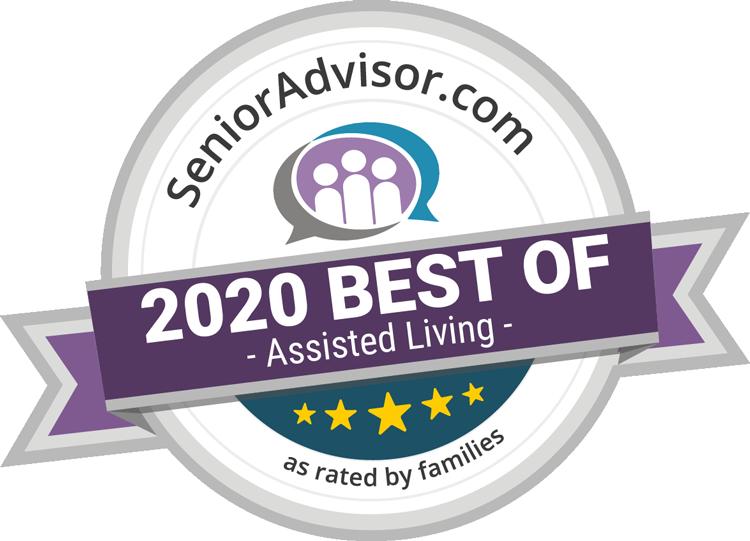 Pegasus Senior Living | SeniorAdvisor.com 2020 Best of Assisted Living award